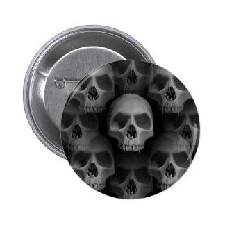 Cráneos de Halloween del horror Pin Redondo De 2 Pulgadas