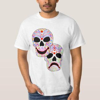 Cráneos de la Comedia-Tragedia de Halloween DOTD Polera
