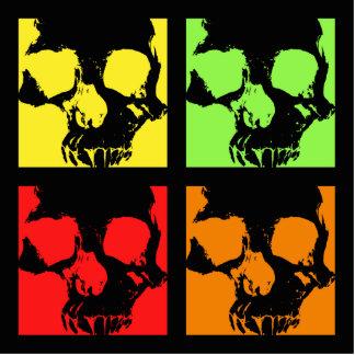 Cráneos de la decoración retra de la sobremesa del fotoescultura vertical