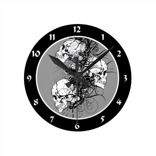 Cráneos de la fantasía reloj