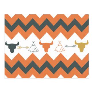Cráneos de la flecha de la tienda de los indios no tarjeta postal