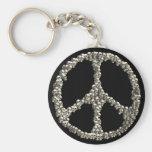 Cráneos de la paz llavero personalizado