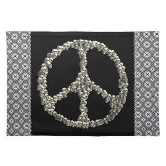 Cráneos de la paz manteles individuales
