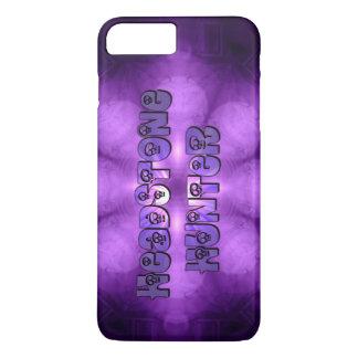 Cráneos de la púrpura del cazador de la lápida funda iPhone 7 plus