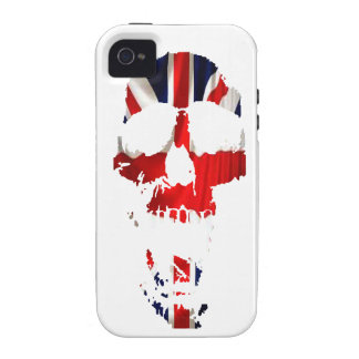 Cráneos de la unión vibe iPhone 4 funda