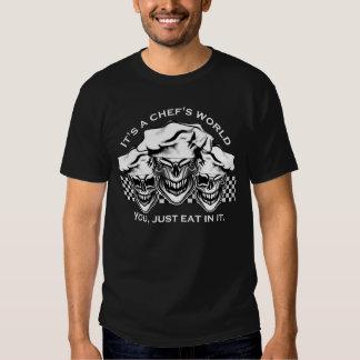 Cráneos de risa del cocinero camisas