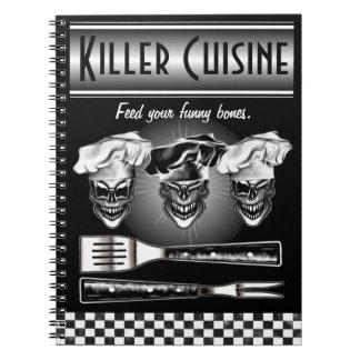 Cráneos de risa del cocinero cuaderno