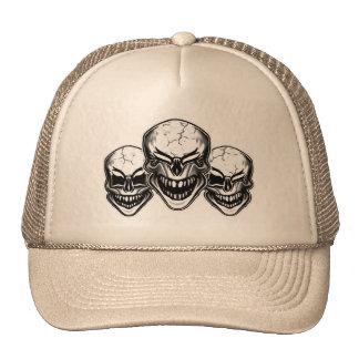 Cráneos de risa frescos gorras de camionero