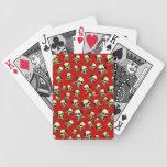 Cráneos decorativos del vintage adaptable baraja cartas de poker
