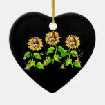 Cráneos del amor adorno de cerámica en forma de corazón