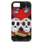 Cráneos del amor iPhone 5 Case-Mate protectores