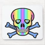 Cráneos del arco iris alfombrilla de ratón