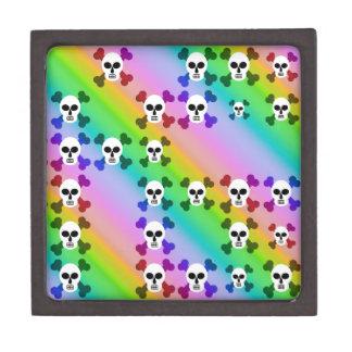 Cráneos del arco iris caja de regalo de calidad