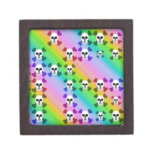 Cráneos del arco iris cajas de regalo de calidad