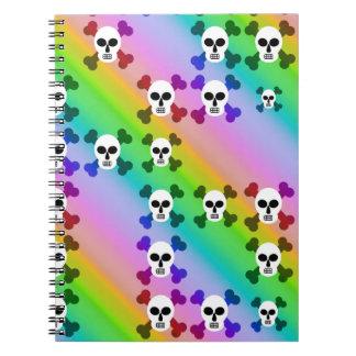 Cráneos del arco iris cuaderno