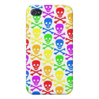"""""""Cráneos del arco iris"""" iPhone 4 Protector"""