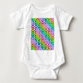 Cráneos del arco iris mameluco de bebé