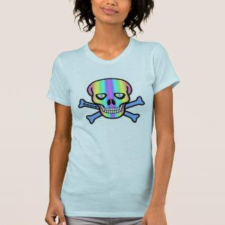Cráneos del arco iris camiseta