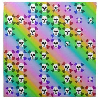 Cráneos del arco iris servilletas