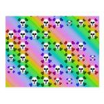 Cráneos del arco iris tarjetas postales
