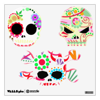 cráneos del azúcar de dia de los muertos Halloween Vinilo