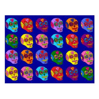 Cráneos del azúcar de Lucha Libre Tarjetas Postales