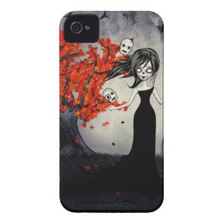 Cráneos del azúcar del chica del zombi que hacen j iPhone 4 Case-Mate fundas
