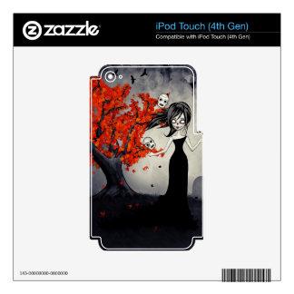 Cráneos del azúcar del chica del zombi que hacen j skins para iPod touch 4G