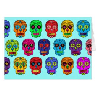 Cráneos del azúcar del hombre y de la mujer tarjeta