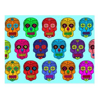 Cráneos del azúcar del hombre y de la mujer tarjetas postales