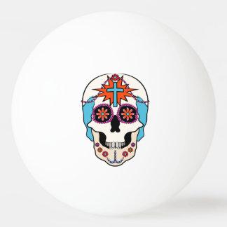 Cráneos del azúcar gráficos pelota de tenis de mesa