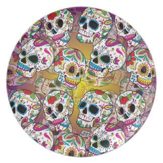 Cráneos del azúcar plato