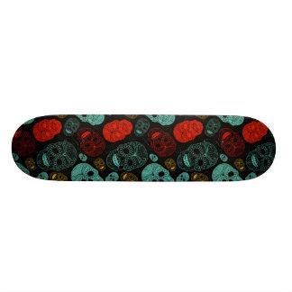 Cráneos del azúcar skateboard
