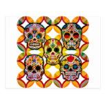 Cráneos del azúcar tarjeta postal