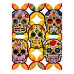 Cráneos del azúcar tarjetas postales