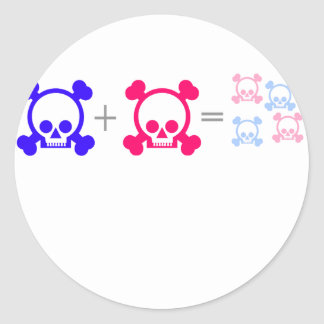 cráneos del bebé pegatina redonda