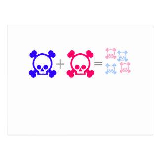 cráneos del bebé tarjetas postales