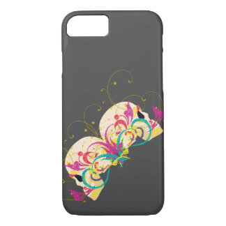 Cráneos del caramelo, florales, estilo de la funda iPhone 7