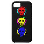 Cráneos del color primario iPhone 5 Case-Mate coberturas