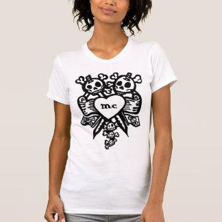 cráneos del corazón del vudú camiseta