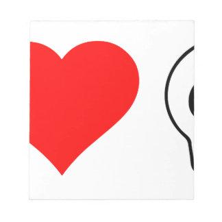 cráneos del corazón i blocs de notas