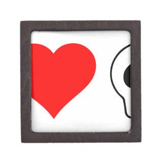 cráneos del corazón i caja de joyas de calidad