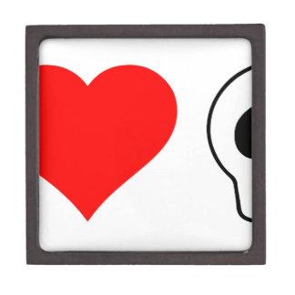 cráneos del corazón i caja de recuerdo de calidad