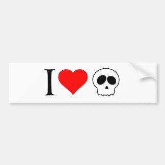 cráneos del corazón i pegatina para auto