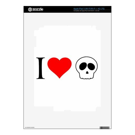 cráneos del corazón i iPad 3 pegatinas skins