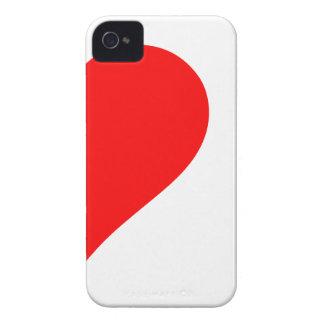 cráneos del corazón i iPhone 4 Case-Mate funda