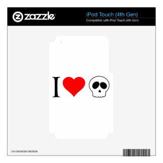 cráneos del corazón i calcomanía para iPod touch 4G