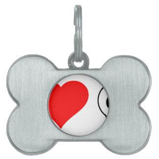 cráneos del corazón i placa mascota