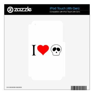 cráneos del corazón i skins para iPod touch 4G