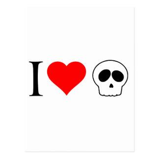 cráneos del corazón i postal